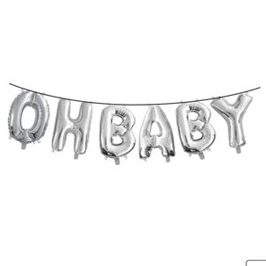 Gold Oh Baby Balloon Banner